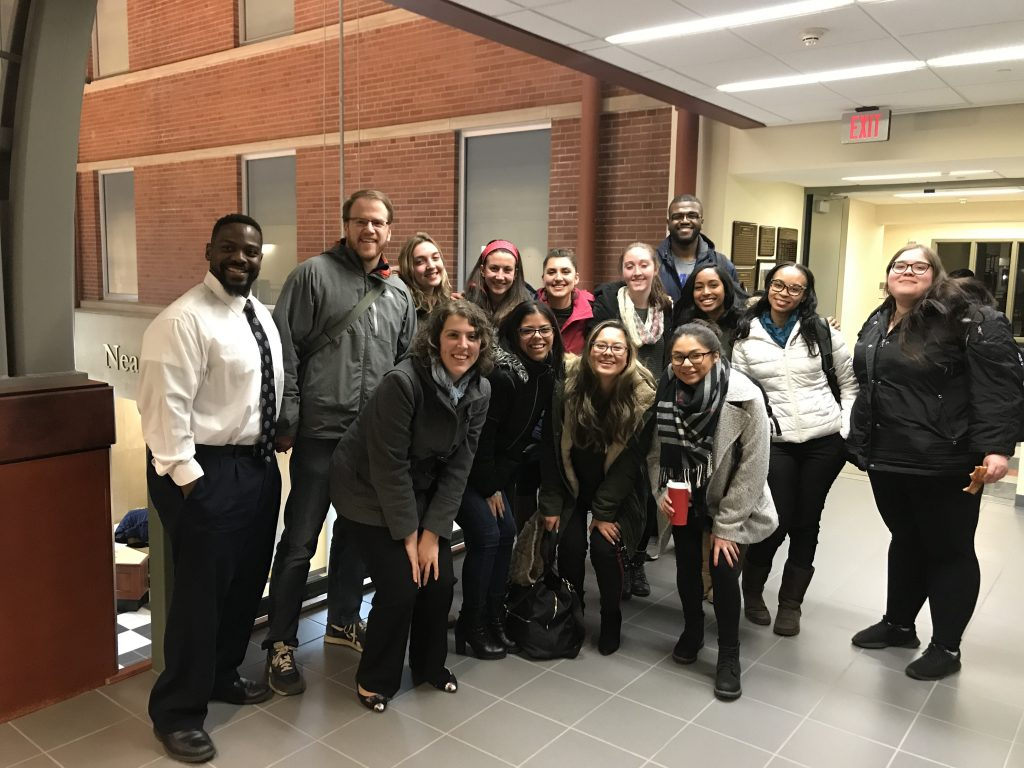 Dr. Challenger and 2020 cohort, spring semester 2019